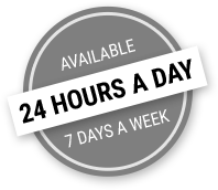 Available 24 hours a day, 7 days a week